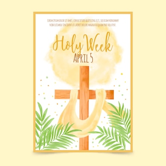 Szablon plakatu semana santa