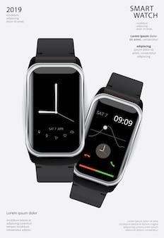 Szablon plakatu smart watch