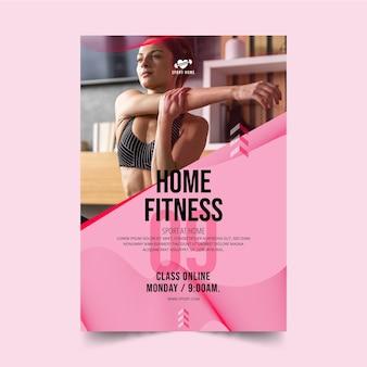 Szablon plakatu sport w domu