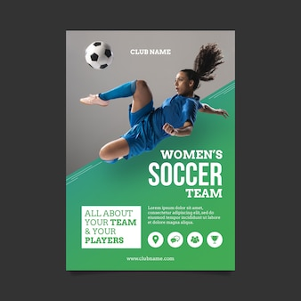 Szablon plakatu sportowego ze zdjęciem