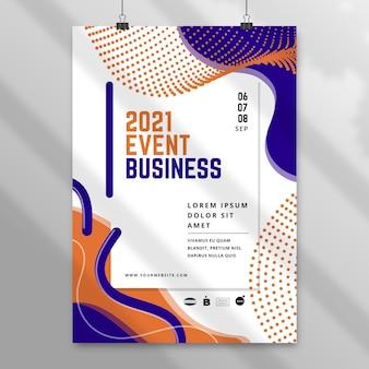 Szablon plakatu streszczenie biznes
