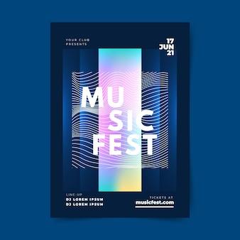 Szablon plakatu streszczenie muzyki