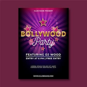 Szablon plakatu strony bollywood