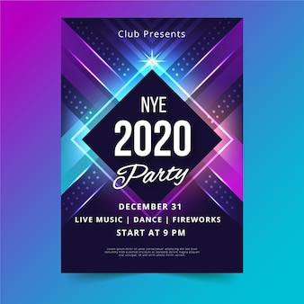Szablon plakatu strony streszczenie nowy rok 2020