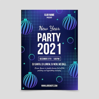 Szablon plakatu strony streszczenie nowy rok 2021