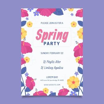 Szablon plakatu strony wiosny
