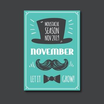 Szablon plakatu świadomości rocznika movember