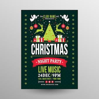Szablon plakatu świątecznego w stylu konspektu