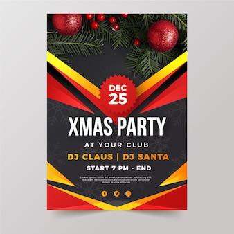 Szablon plakatu świątecznego ze zdjęciem