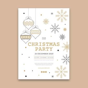 Szablon plakatu świątecznego