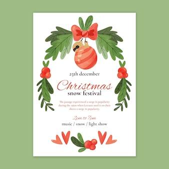 Szablon plakatu świątecznej sprzedaży