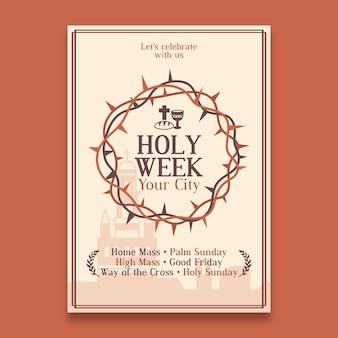 Szablon plakatu świętego tygodnia