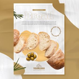 Szablon plakatu świeżego chleba