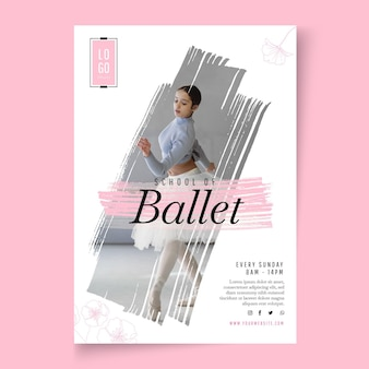 Szablon plakatu tańca baletowego