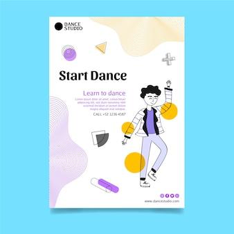 Szablon plakatu taniec pionowy