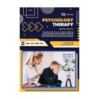 Szablon plakatu terapii psychologicznej