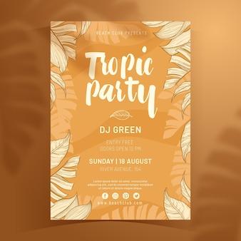 Szablon plakatu tropikalnej partii