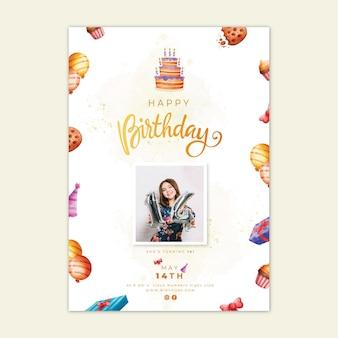 Szablon plakatu urodzinowego