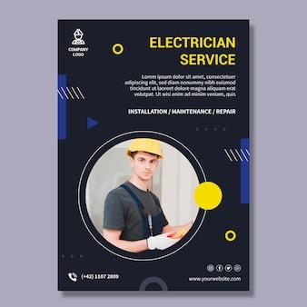Szablon plakatu usługi elektryka