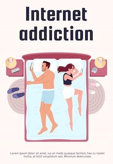 Szablon plakatu uzależnienia od internetu