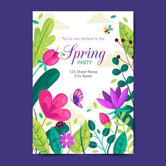 Szablon plakatu wiosny