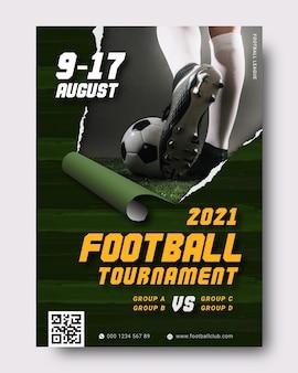Szablon plakatu wydarzenia sportowego