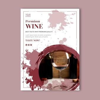 Szablon plakatu wydarzenie wina