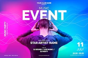 Szablon plakatu wydarzenie współczesnej muzyki