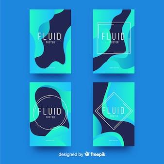 Szablon plakatu z płynnymi kształtami