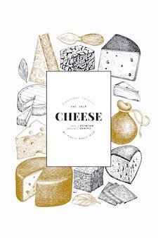 Szablon plakatu z serem.