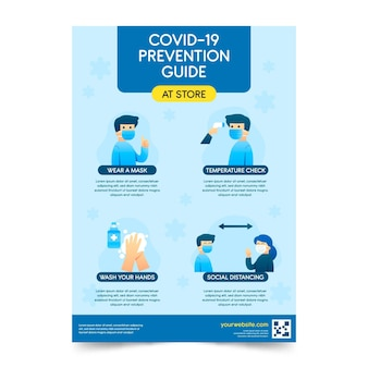 Szablon plakatu zapobiegania koronawirusowi
