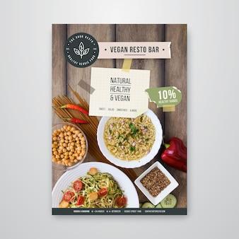 Szablon plakatu zdrowej restauracji