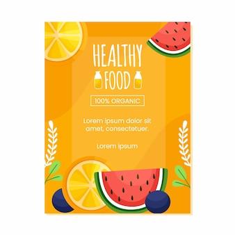 Szablon plakatu zdrowej żywności