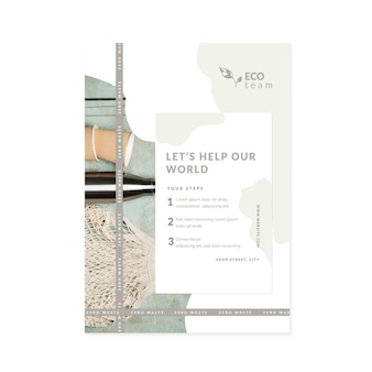 Szablon plakatu zero waste