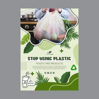 Szablon Plakatu Zero Waste Darmowych Wektorów