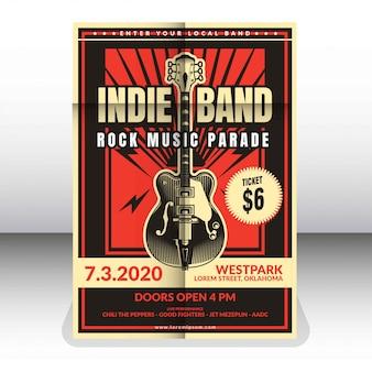Szablon plakatu zespołu indie