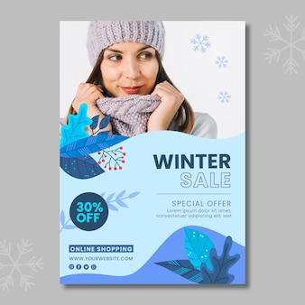 Szablon plakatu zima