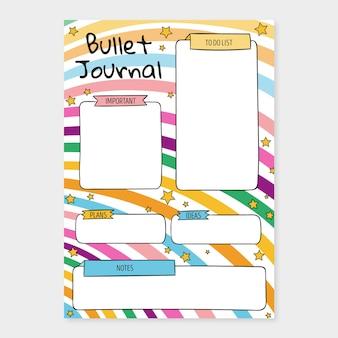 Szablon planowania dziennika punktorów