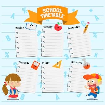 Szablon planu lekcji z powrotem do szkoły