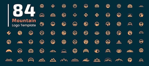 Szablon płaska konstrukcja logo góry. elementy graficzne reprezentują odważne i mocne