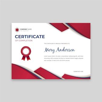 Szablon płaski elegancki certyfikat