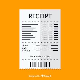 Szablon płatności płatności z płaska konstrukcja