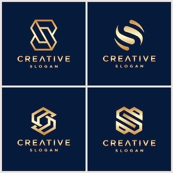 Szablon pobierania ikona logo litery s.