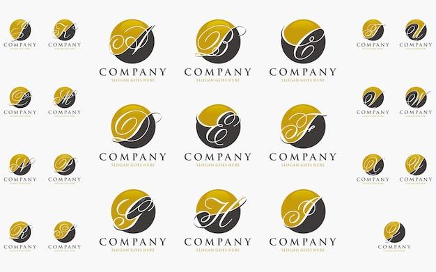 Szablon Początkowy Logo Alfabetu Premium Wektorów