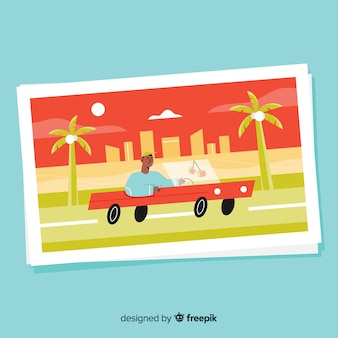 Szablon pocztówki letnie wakacje