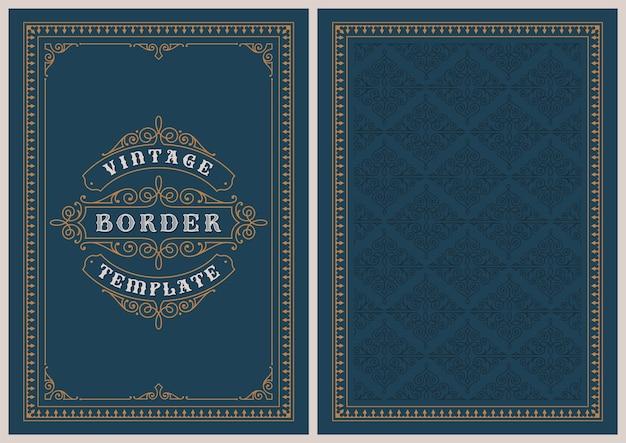 Szablon pocztówki w stylu vintage, idealny na kartki świąteczne, zaproszenia ślubne i wiele innych zastosowań.