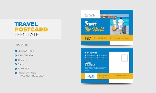 Szablon pocztówki z podróży
