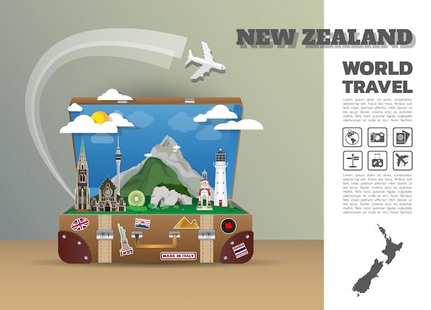 Szablon podróży nowa zelandia