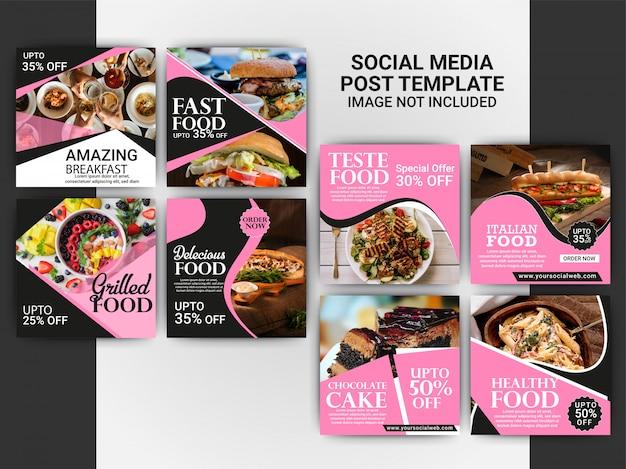 Szablon post instagram żywności