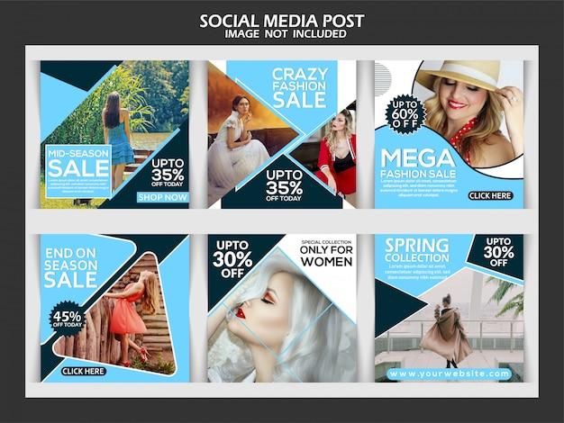 Szablon Post Sprzedaż Moda Instagram Premium Wektorów